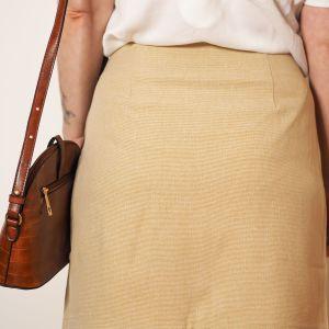 falda beige tiro alto Josephine Looks 3