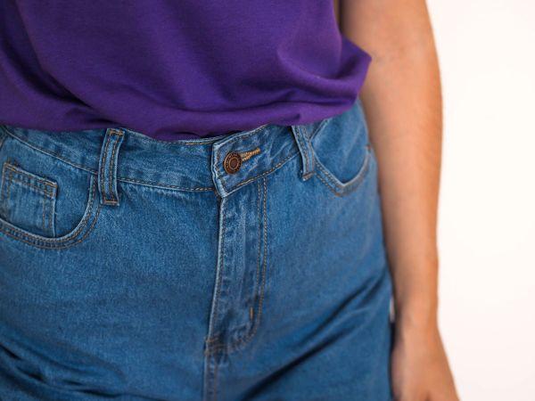 short denim tiro alto Josephine Looks 4