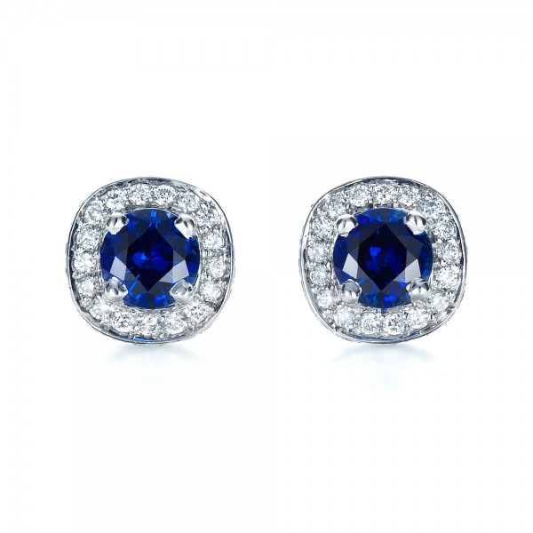 Blue Topaz And White Gold Earrings 100302 Seattle