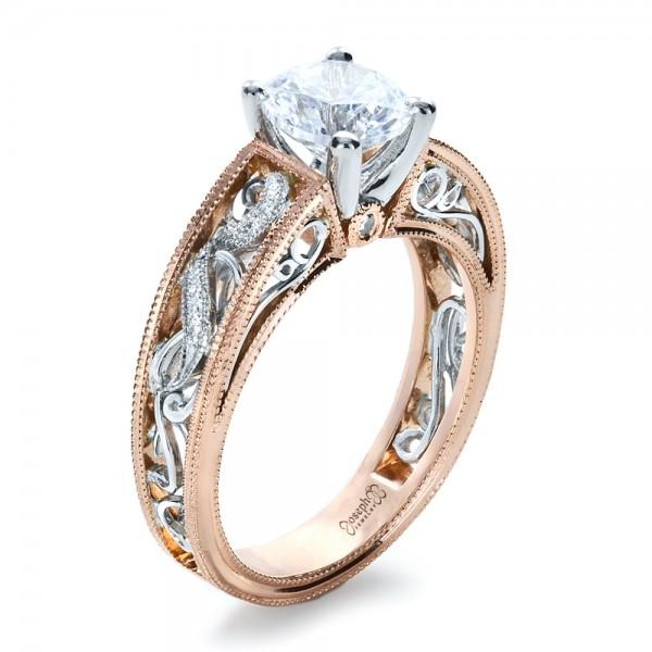 Rose Gold Diamond Engagement Ring 1214 Seattle Bellevue