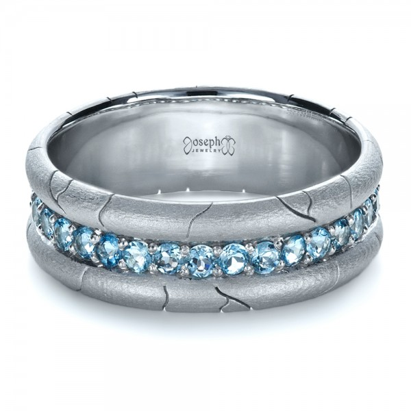 Mens Custom Ring With Aquamarine 1203 Seattle Bellevue