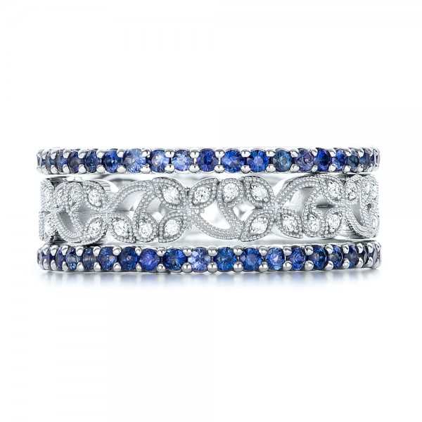Blue Sapphire Stackable Eternity Band 101928 Seattle
