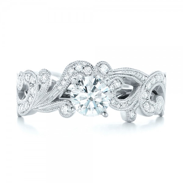 Custom Jacket Style Diamond Wedding Band 102921 Seattle