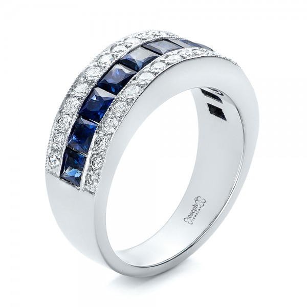 Diamond And Blue Sapphire Anniversary Band 101332
