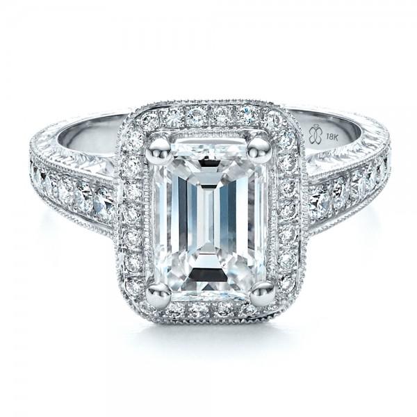 Custom Emerald Cut Diamond Engagement Ring 1478 Bellevue