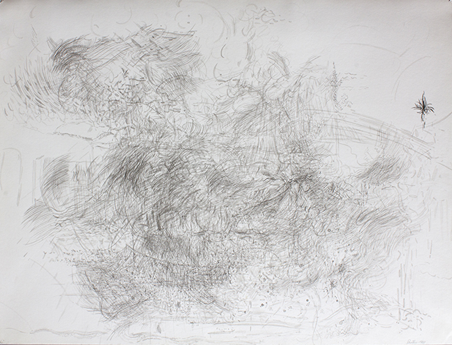 Forage, ink on paper, 19 x 25.125 inches, 1981.