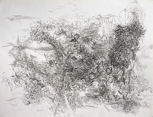 Pause, ink on paper, 20 x 26 inches, 1981.