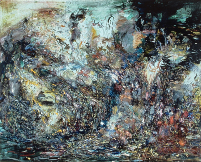 Dark Prayer, oil on canvas, 18 x 22 inches, 1979-80. Collection of Chase Manhattan Bank.