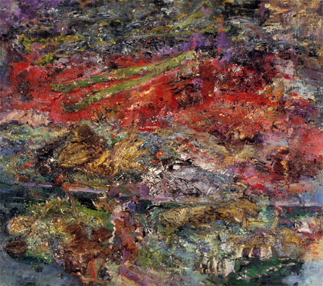 Asparagus One, oil on linen, 16 x 18 inches, 1984-85. Private Collection.