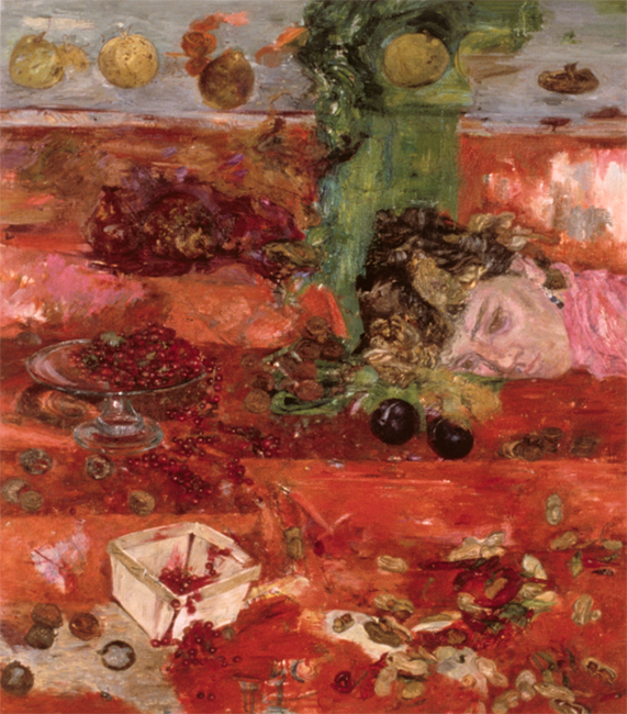 Currants, oil on canvas, 32 x 38 inches, 1986. Private collection.
