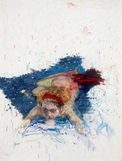 Susanna Two, oil on gessoed paper, 37 1/2 x 29 inches, 1989. Collection of the artist.