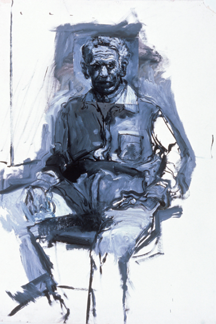 Study of Ben for Titorelli's Studio, oil on gessoed paper, 53 3/8 x 36 inches, 1991.