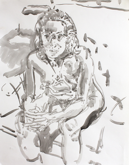 Susan, ink and water on paper, 24.5 x 19.25 inches, 1994.