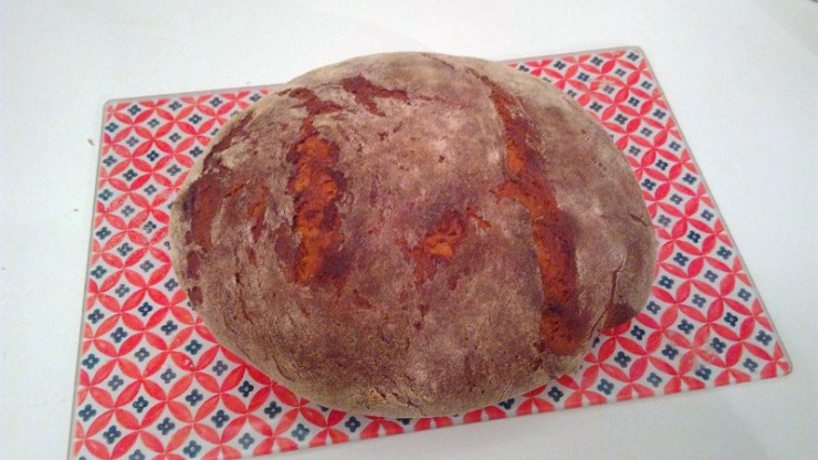 recette de pain à la farine de pois chiche et graines de courge, lin, tournesol.