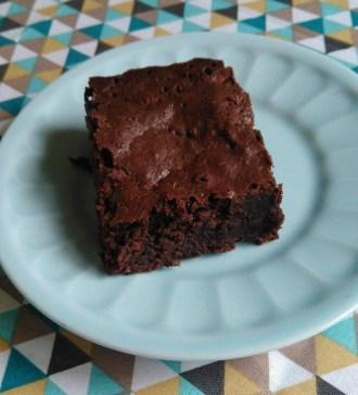 recette facile et rapide pour des brownies chocolat noir fondant