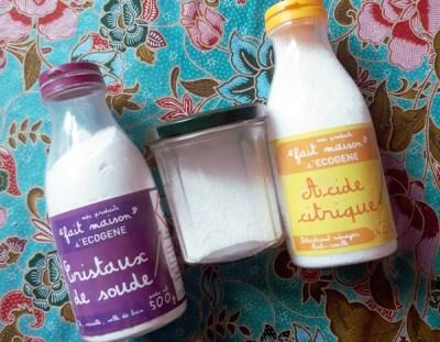 Ingrédients pour fabriquer sa poudre lave-vaisselle maison