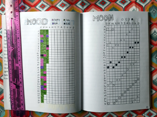 mood tracker josette and co bullet journal