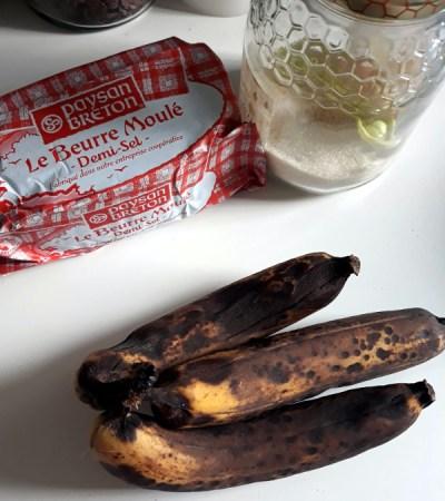 la recette du cake banane chocolat idéale pour ne plus jeter trois banaes trop mures
