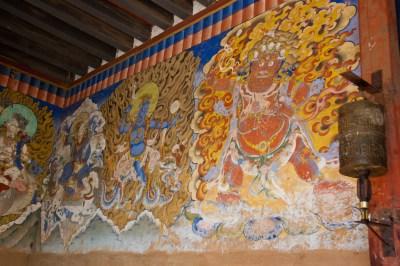Mural at Gangtey Gompa
