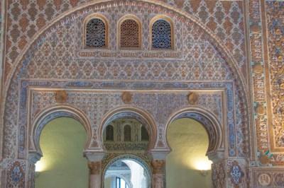 Arabesque design in the Alcazar,