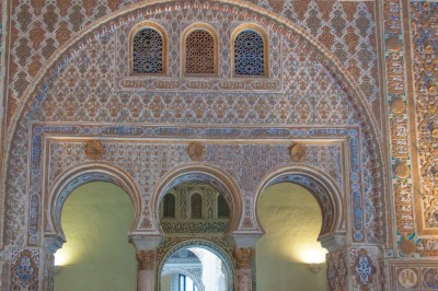 Arabesque design in the Alcazar,
