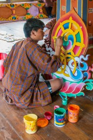 Student at the Choki Traditional Arts School.