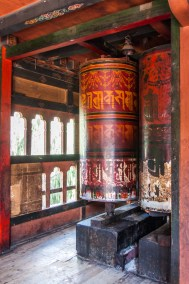 Bhutan - Prayer Drum at the Changankha Monastery,