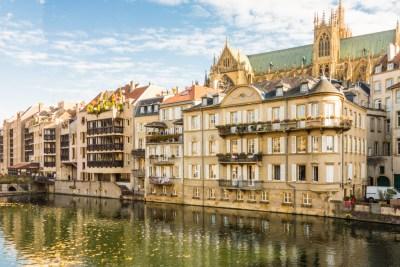 France - Metz, Moselle Riverbank