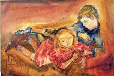 Oskar Kokoschka - Children at Play.