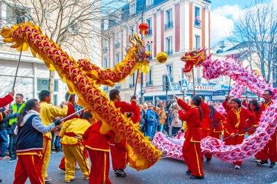 France - Paris CNY Dragon Dance.