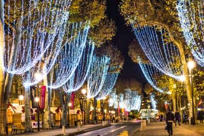The Cours Mirabeau during the Christmas season.