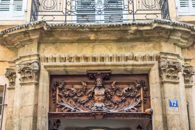 Aix is famous for its elaborately carved doors.