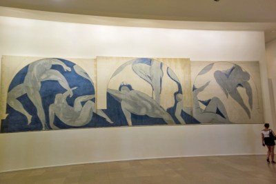 The unfinished first version of The Dance by Matisse at the City of Paris Museum of Modern Arts.
