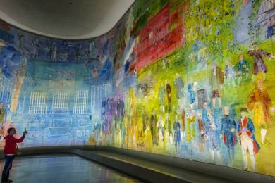 An entire hall is dedicated to La Fée Electricité by Raoul Duffy.