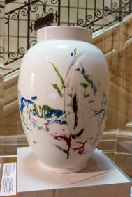 Zao Wou-ki late abstract work on Limoge Porcelain.
