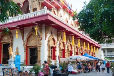 Chiang Mai - Walking Market stalls.