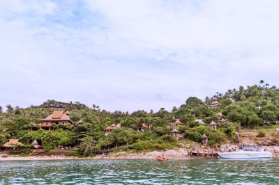 Secluded Santhiya Resort and Spa rises from the bay of Thong Nai Pan.