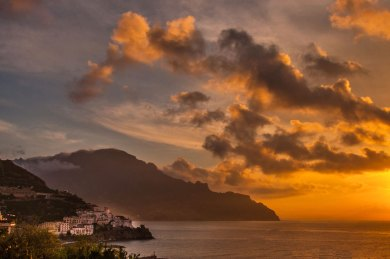 Amalfi-Santa Caterina Sunset.