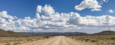 A road across the Khomas Highlands.