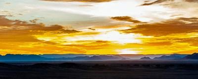 Sunrise over the Naukluft Mountains.
