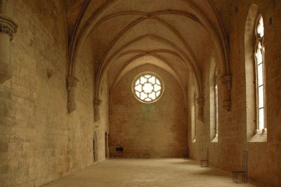 The refectory of Silvacane Abbey.