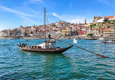 Rabelo boats were used for centuries to transport wine downriver from the Douro vineyards.