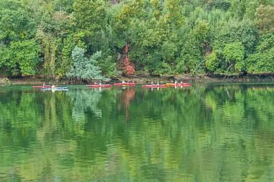 Kayaks on the Douro River.