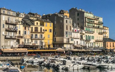 The docks of the Old Port of Bastia are now lined with trendy eateries.