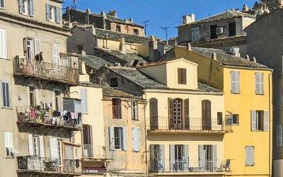 Laundry day in Bastia's Terra Vecchia.