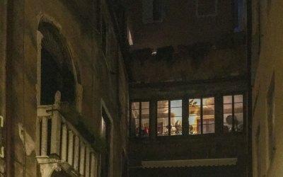 Venice Windows at Night - 2