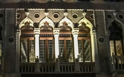 Venice Windows at Night - 1