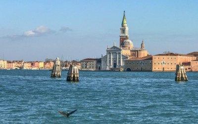 The 16th century benedictine church of San Giorgio Maggiore was designed by Andrea Palladio.