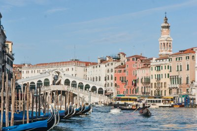 The Rialto is the oldest of the four bridges spanning the Grand Canal.