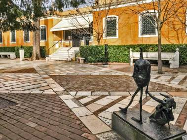 "Germaine Richier's ""Tauromachy"" takes pride of place in the sculpture garden."